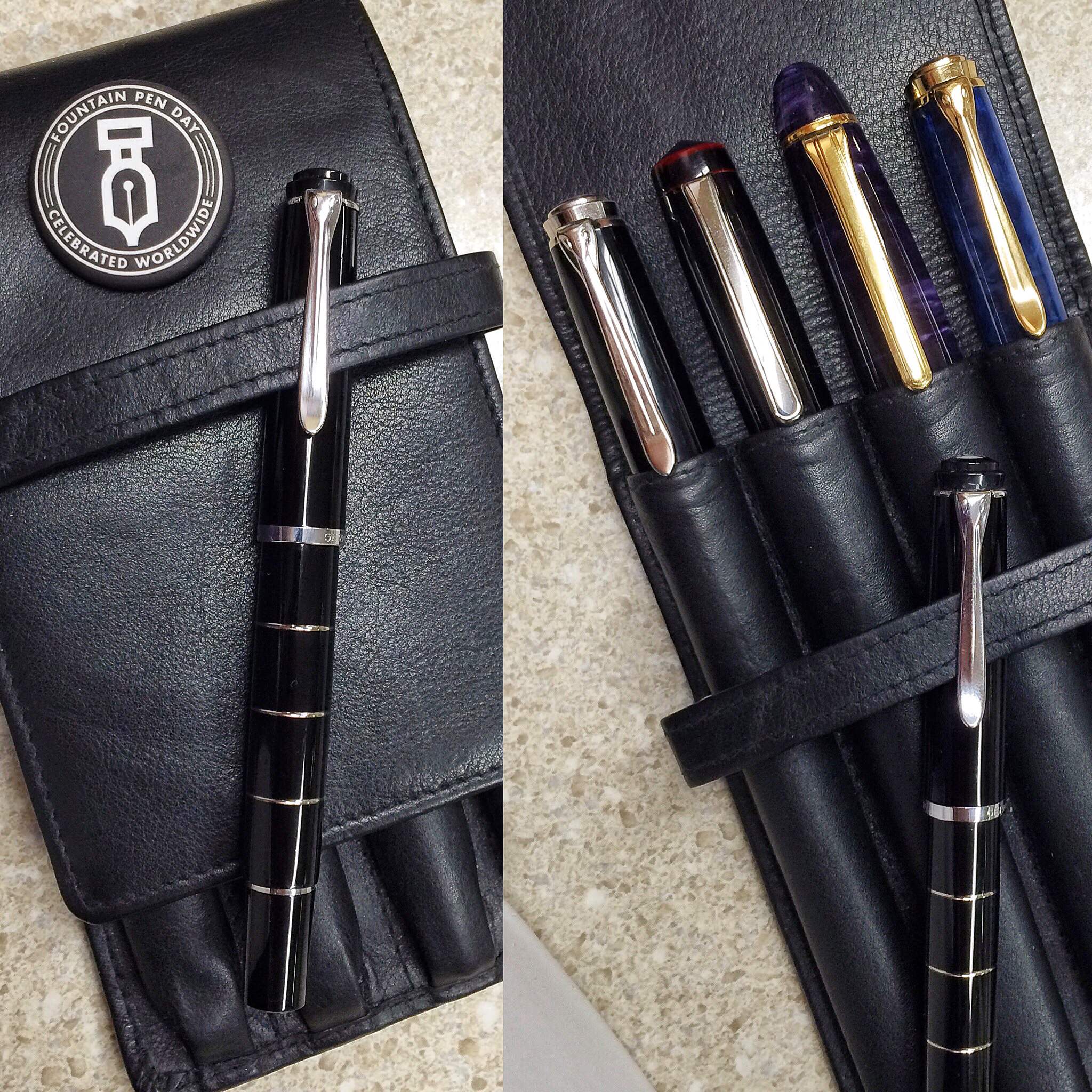 Franz's 4 pen leather case. It can carry 5 pens as well.