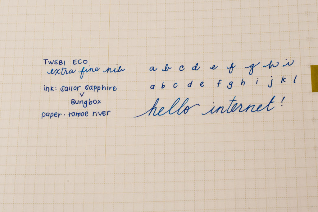 Pam's writing sample of the TWSBI Eco, EF nib
