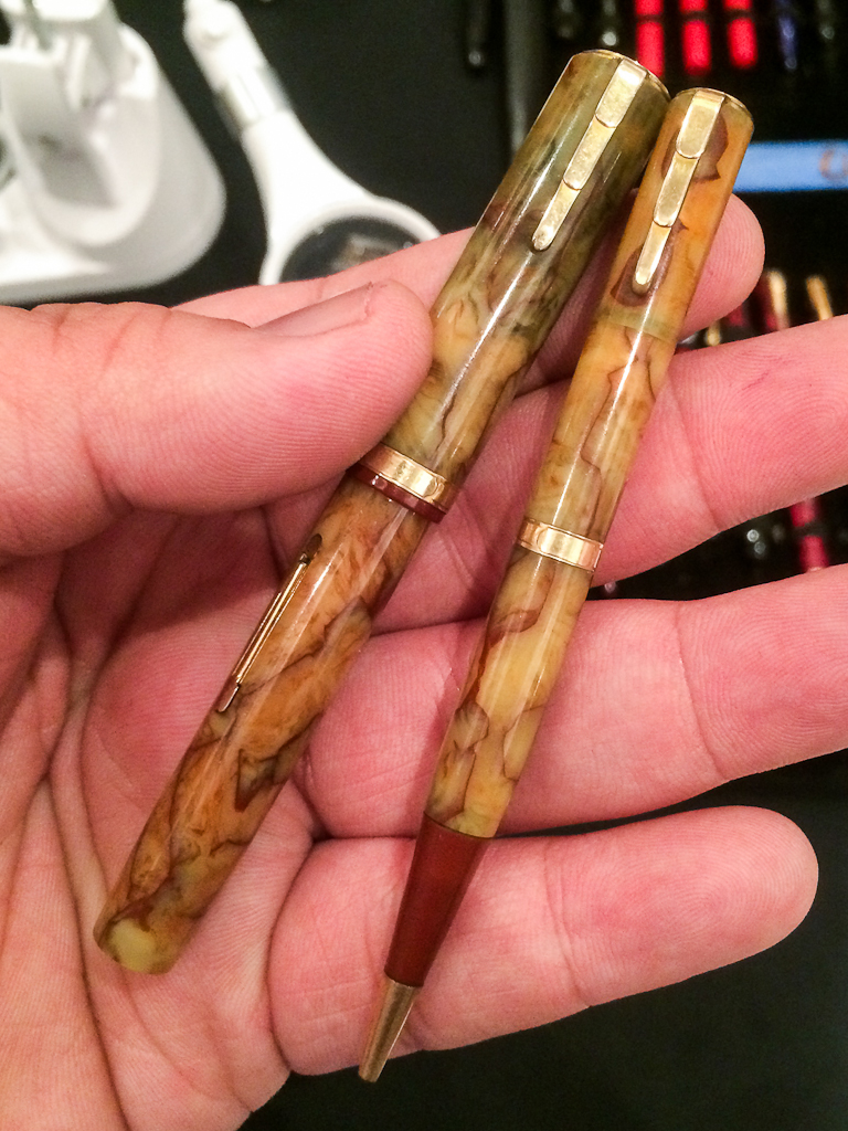 Show and Tell: A Waterman Lady Patrician pen and pencil set that my friend, Gale got at the show.